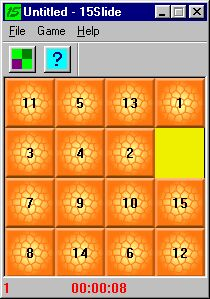 15Slide is a computer slide-puzzle game.